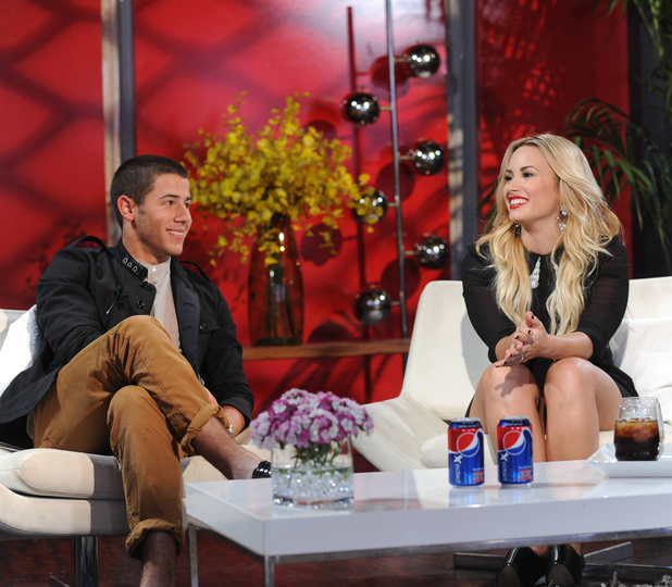 'The X Factor' USA - Judges' Houses: Nick Jonas with Demi Lovato