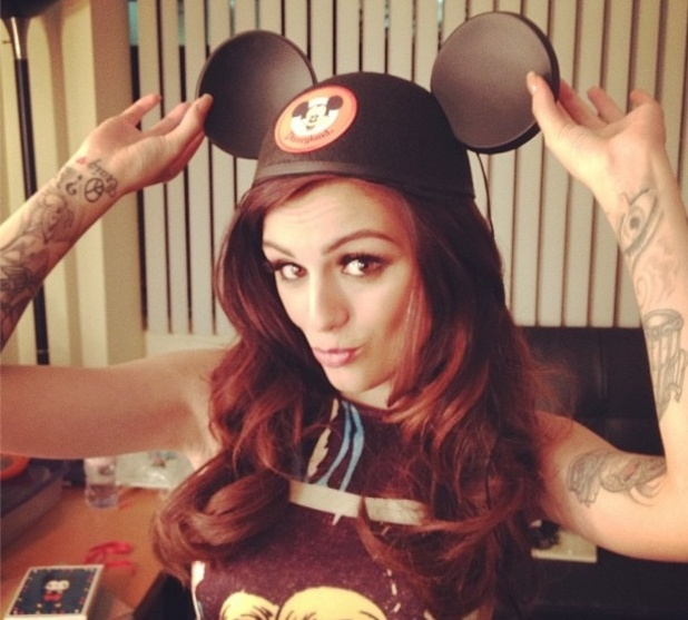 Cher Lloyd wears Mickey Mouse ears