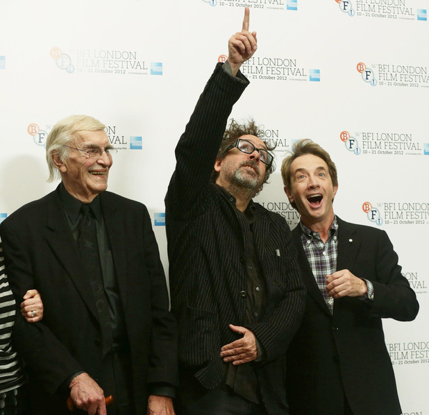 Martin Landau, Tim Burton and Martin Short