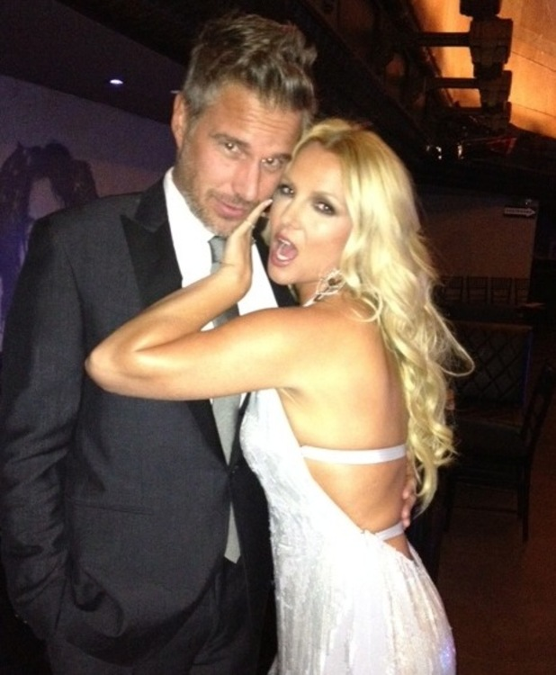 Britney Spears with fiance Jason Trawick