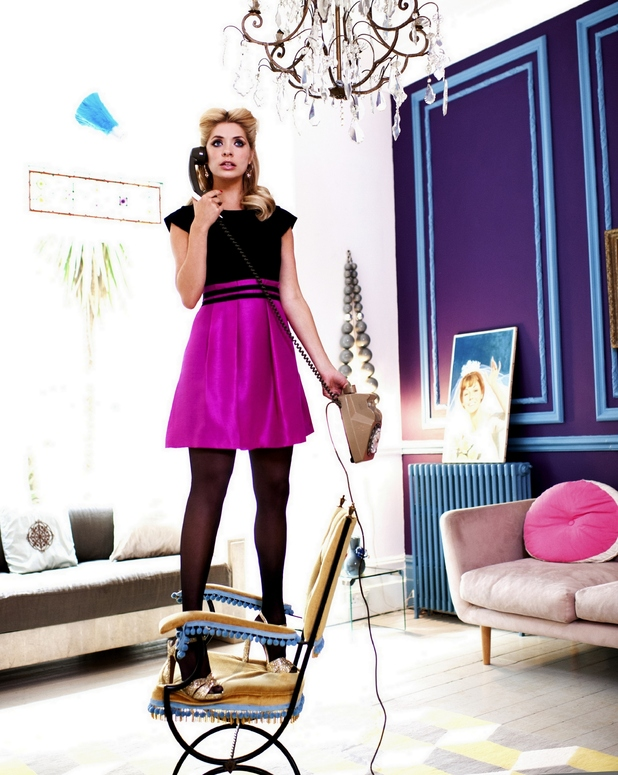 Holly Willoughby models her latest collection for Very.co.uk