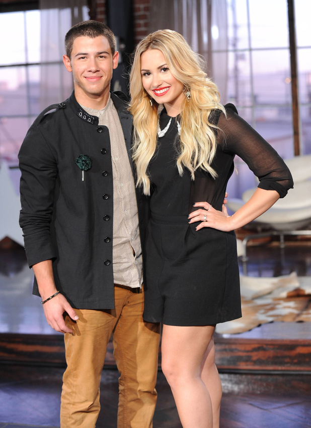 Nick Jonas with Demi Lovato