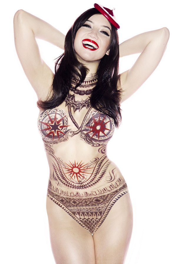 Daisy Lowe by Diet Coke and Jean Paul Gaultier shoot