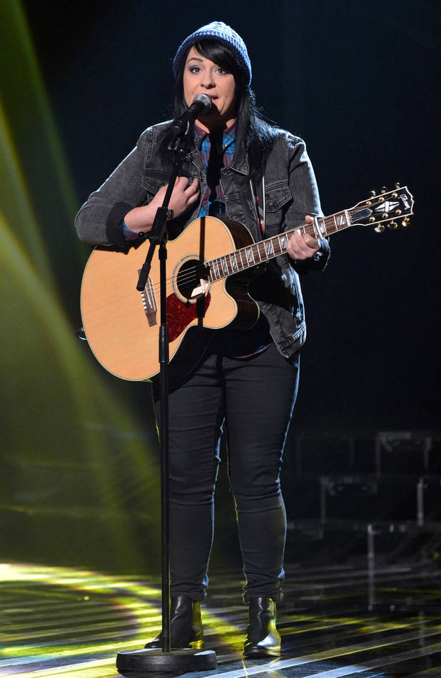 Lucy Spraggan performs on Live Show 2