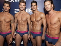 Shirtless models pose tight y-fronts for fashion show in New York - pictures.