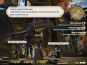 Final Fantasy XIV's PS3 screens showcase the console's simple user-interface.