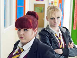Rebecca Craven and Katie McGlynn in Waterloo Road