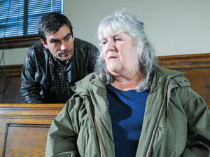 Lisa Dingle attends Chas's court appearance