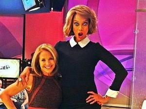 Tyra Banks and Katie Couric