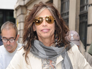 Steve Tyler of Aerosmith outside the BBC Radio 1 studios London, England
