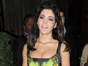 Marina Diamandis aka Marina and the Diamonds leaving the Attitude Magazine Awards held at One Mayfair London, England
