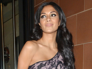 Nicole Scherzinger X Factor judges outside C London restaurant, after earlier appearing on the live show London, England