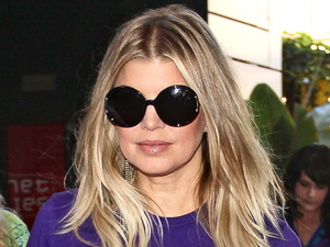 Fergie seen arriving at The Grove to appear on entertainment news show 'Extra' Los Angeles, California