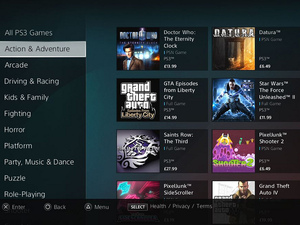 The new-look PlayStation Store (screenshot)