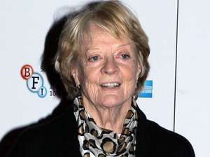 Dame Maggie Smith arriving at the screening of 'Quartet'' at Odeon West End as part of the 56th BFI London Film Festival
