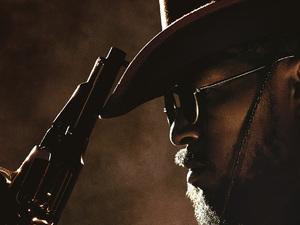 Jamie Foxx in Django Unchained poster