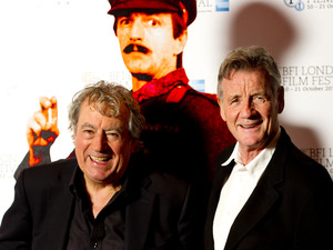 Michael Palin and Terry Jones pictured at a photocall for A Liar&#39;s Autobiography, held at the Vue Cinema, Leicester Square, as part of the BFI London Film Festival.