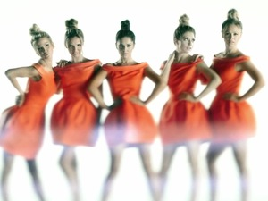Girls Aloud in 'Something New' music video.