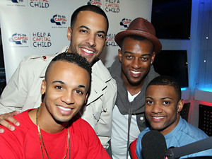 JLS in the Capital Radio studios in central London for an interview on the Breakfast Show.