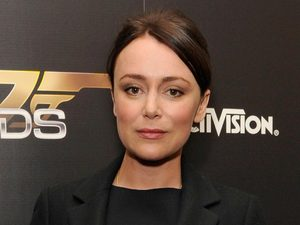 Keeley Hawes arriving at the 007 Legends launch event