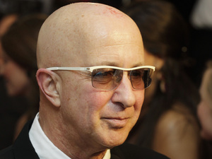 Paul Shaffer arrives at the Barnstable Brown Derby party Friday, May 4, 2012, in Louisville, Ky.