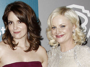 Tina Fey and Amy Poehler at a Golden Globes afterparty in January 2012