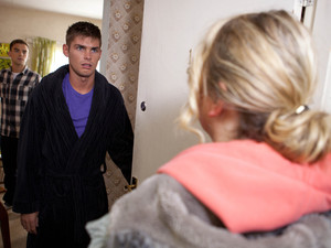 Ste is surprised to see his Mum at the door.