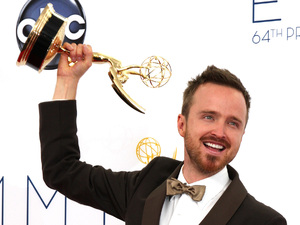 Aaron Paul 64th Annual Primetime Emmy Awards, held at Nokia Theatre L.A. Live - Press Room Los Angeles, California