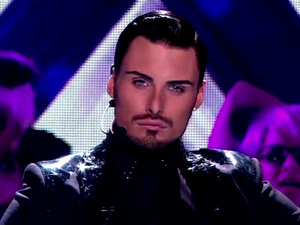 Rylan Clark performing on 'X Factor' Shown on ITV1 HDEngland - 15.10.12 Supplied by WENN.comWENN does not claim any ownership including but not limited to Copyright or License in the attached material. Any downloading fees charged by WENN are for WENN's services only, and do not, nor are they intended to, convey to the user any ownership of Copyright or License in the material. By publishing this material you expressly agree to indemnify and to hold WENN and its directors, shareholders and employees harmless from any loss, claims, damages, demands, expenses (including legal fees), or any causes of action or  allegation against WENN arising out of or connected in any way with publication of the material.