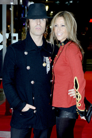 Liam Gallagher and his wife Nicole Appleton arrives to attend the gala screening of 'Crossfire Hurricane' at Odeon Leicester Square as part of the  56th BFI London Film Festival