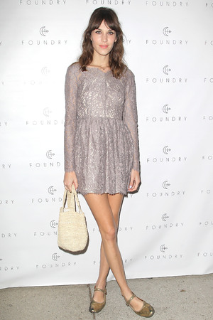 Alexa Chung hosts The Foundry Store Launch Party in LA.