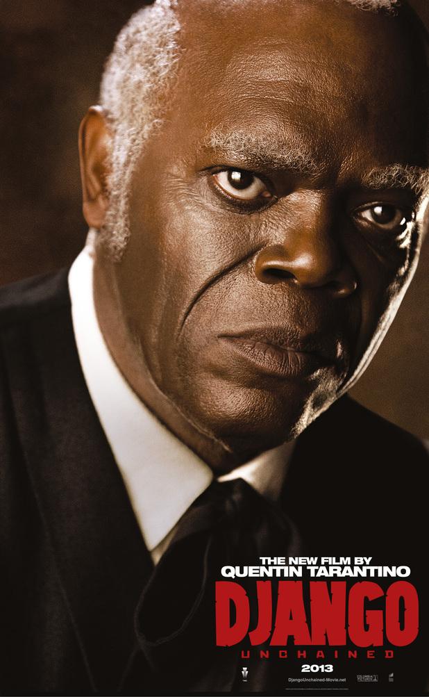 Samuel L Jackson in Django Unchained poster