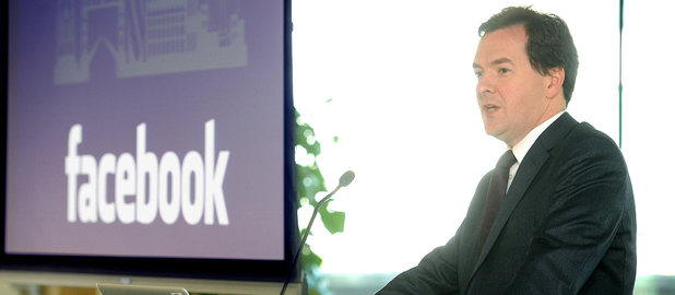 The grand opening of Facebook's new engineering centre in London: George Osbourne