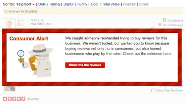 Yelp to alert users on 'shady' business reviews