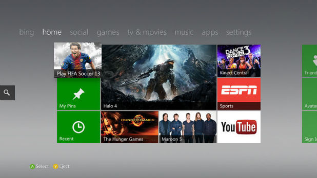 Xbox Dashboard update 2012