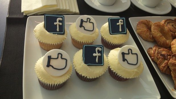 Facebook themed cakes