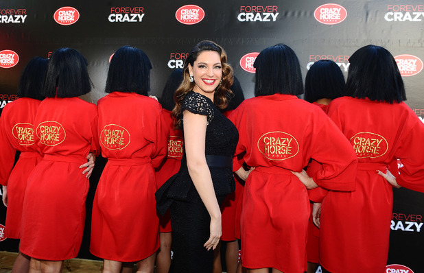 "Kelly Brook attends a photocall to announce her appearance in ""Forever Crazy"" at the Crazy Horse theatre in London"