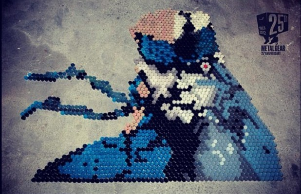 Konami Instagram 'Liquid Snake art made out of 2100 individual shots for MGS 25th Anniversary'