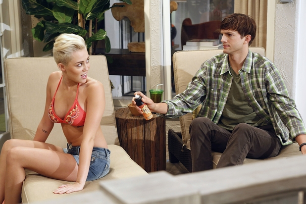 Miley Cyrus stars in Two and A Half Men