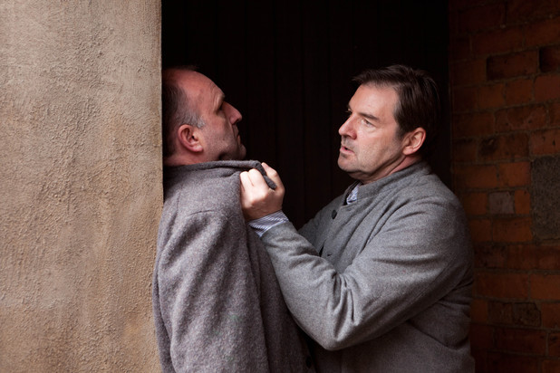 Downton Abbey S03E06: Jack Furnival as Craig and Brendan Coyle as Bates
