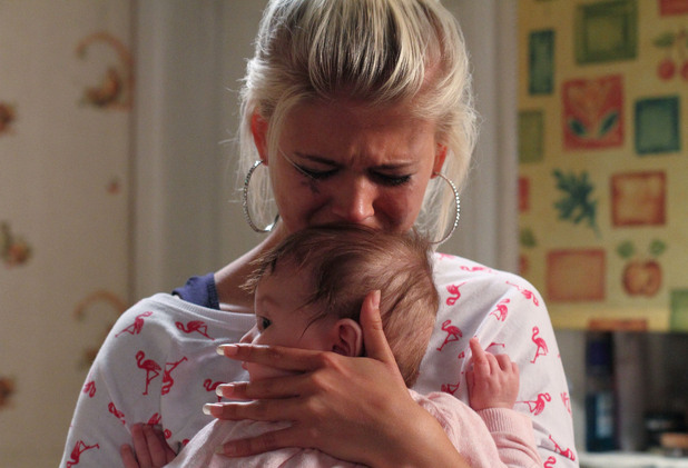 Lola breaks down as she holds Lexi.
