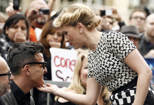 Scarlett Johansson with ex-boyfriend Nate Naylor - May 2 2012