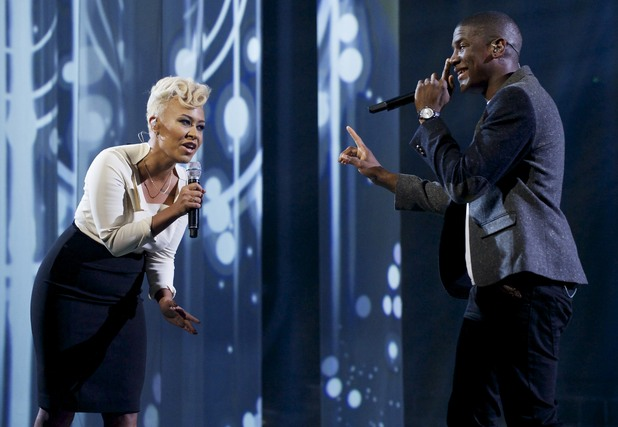 The X Factor Results Show: Emeli Sande and Labrinth perform.