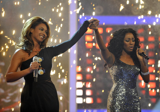 Beyonc and Alexandra Burke during the 2008 X Factor grand final