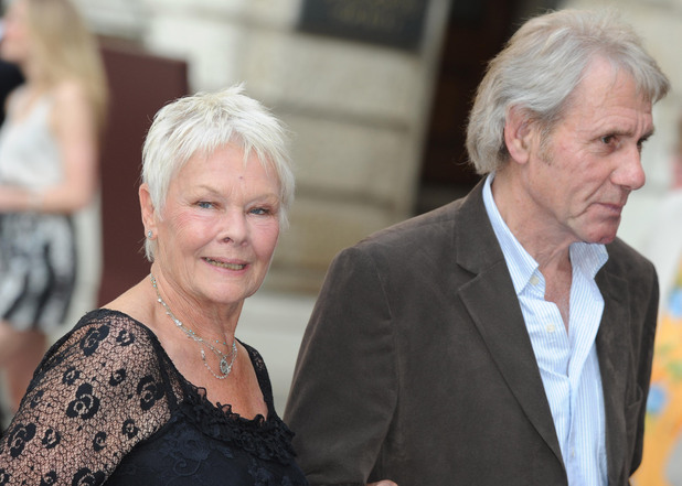 Dame Judi Dench and David Mills arrive at the Royal Academy of Arts&#39; Summer Exhibition 2011, at the Royal Academy of Arts in Piccadilly, central London