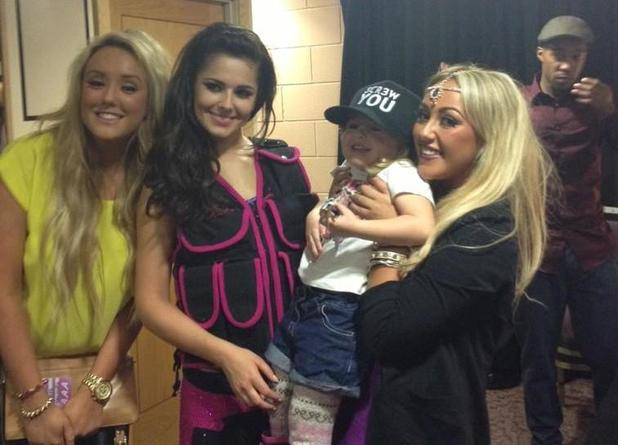 Cheryl Cole with Sophie and Charlotte-Letitia from 'Geordie Shore'