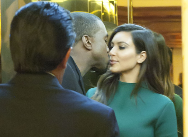Kim Kardashian and Kanye West arrive back at their hotel Rome, Italy - 18.10.12 **Available for publication in UK, Germany, Austria, Switzerland. Not available for publication in the rest of the world** Mandatory Credit: Agostino Fabio/WENN.com