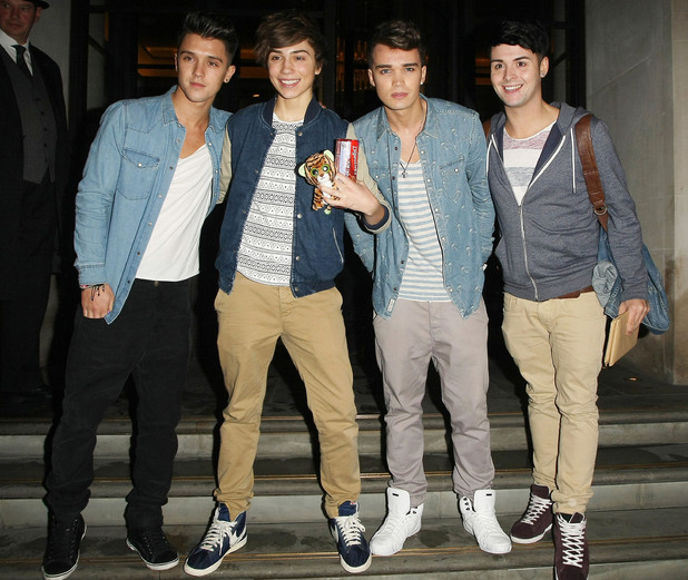 Union J - Left to right: Jamie (JJ) Hamblett, George Shelley, Josh Cuthbert and Jaymi Hensley, outside the Corinthia hotel London, England - 09.10.12 Mandatory Credit: Manuil Yamalyan/WENN.com