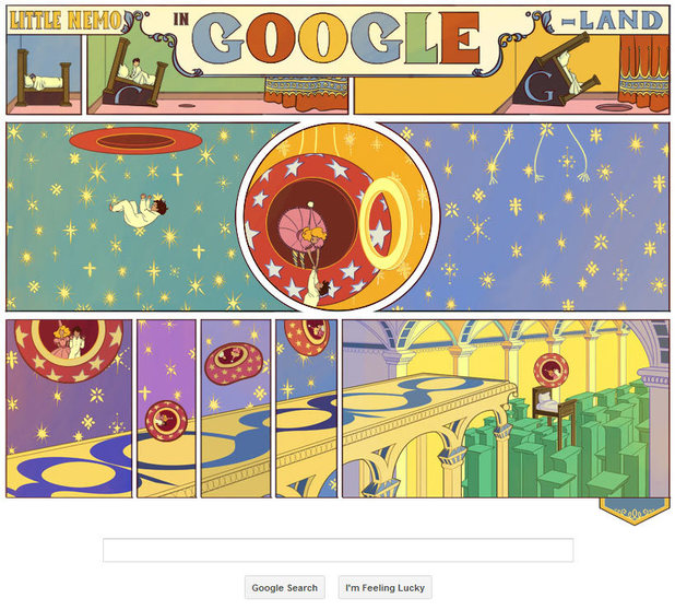 Google doodle celebrates 'Little Nemo' comic