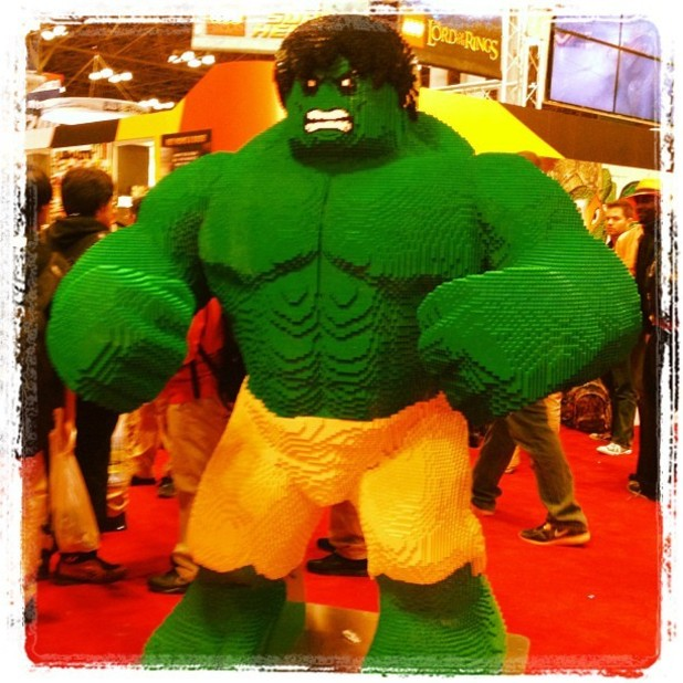 MTV posts a lego hulk on Instagram